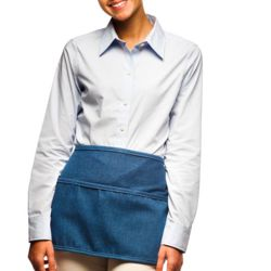 Denim 3-Pocket Rounded Waist Apron Thumbnail